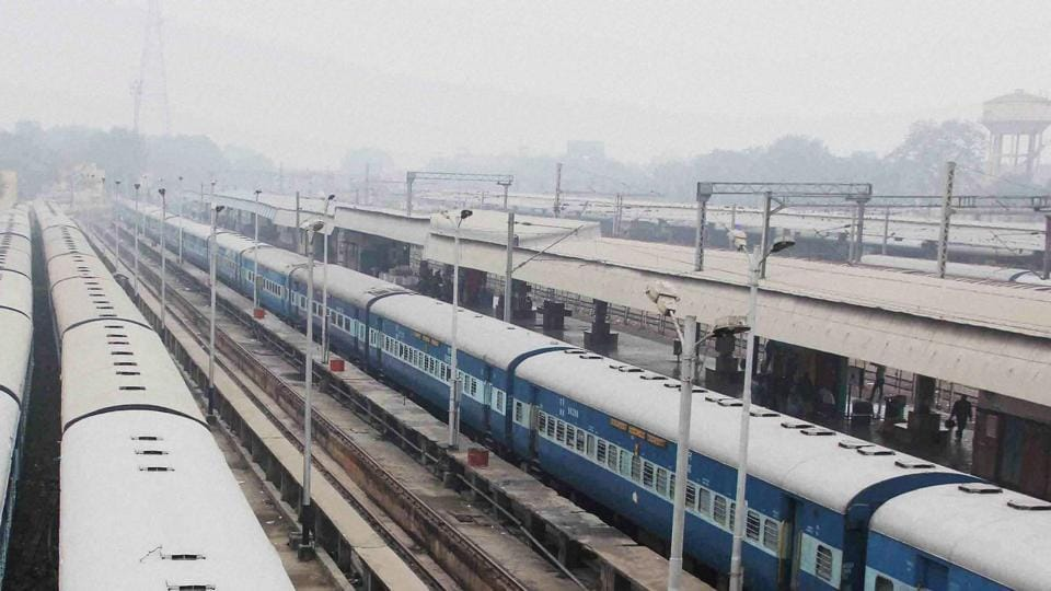 Around 22 trains were rescheduled and six were cancelled due to the foggy weather.