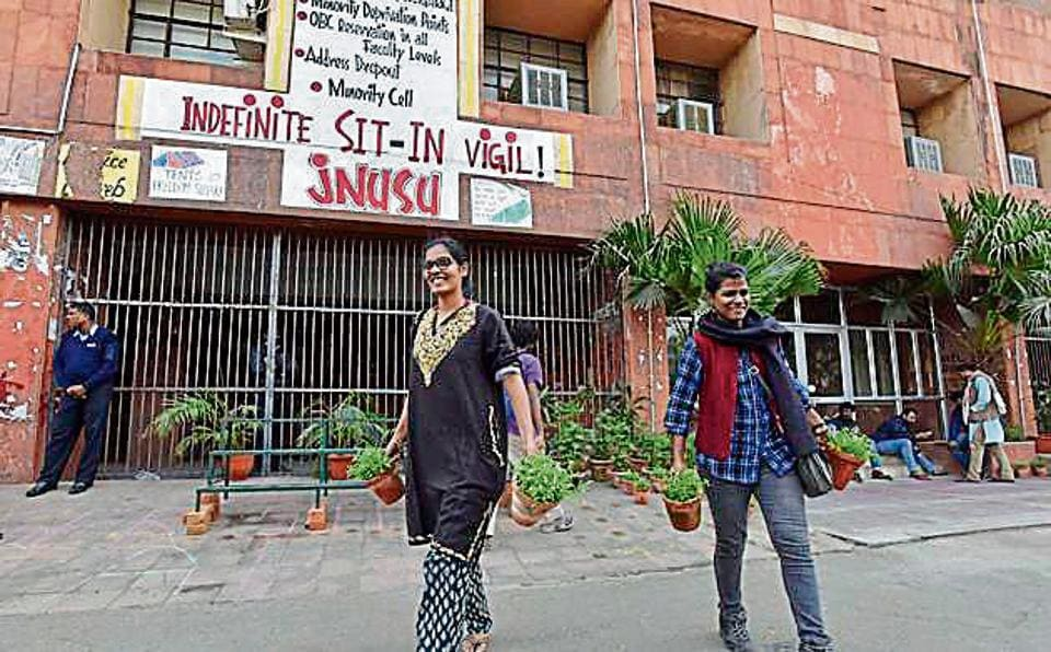 """NeThe move comes days after the university sent a letter to Professor Nivedita Menon over """"clear violation"""" of university rules following her address to some students at the administrative building and warned her of """"disciplinary action""""."""