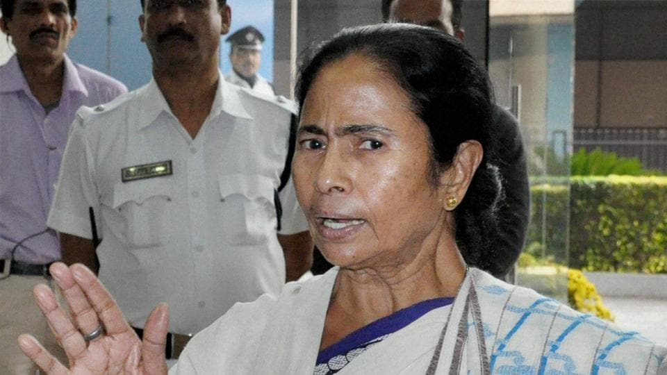 West Bengal CM Mamata Banerjee addresses a media conference at her office in Howrah near Kolkata.