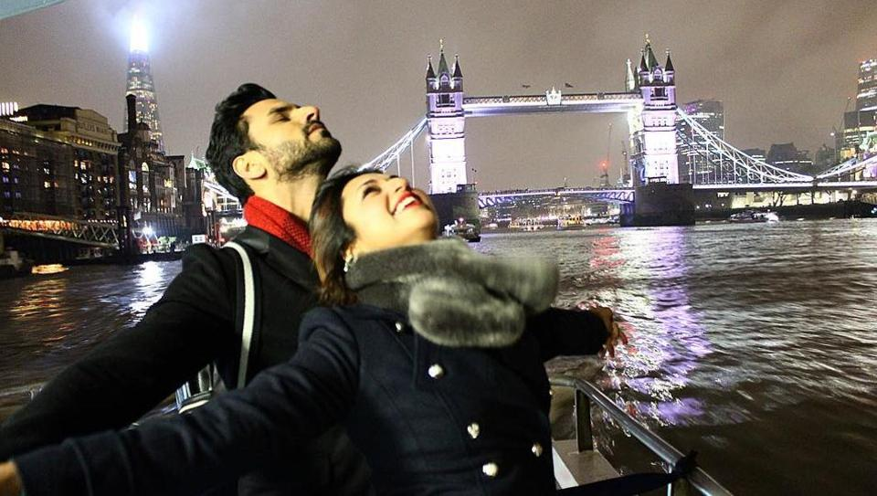 Divyanka Tripathi and Vivek Dahiya visited Hyde Park, a restaurant with friends in Mayfair, Cardiff Bay and more. Check out some of their pics: