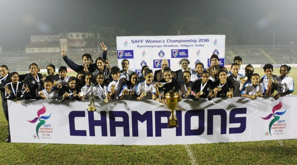 India defeated Bangladesh 3-1 to win their fourth consecutive SAFF Women's Football Championship title.