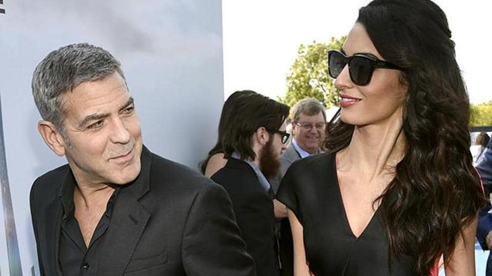 George Clooney and wife Amal expecting twins in March ...
