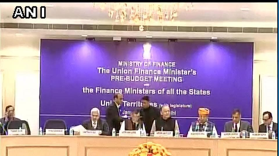 Finance minister Arun Jaitley chairs pre-budget consultation meeting with state finance ministers.