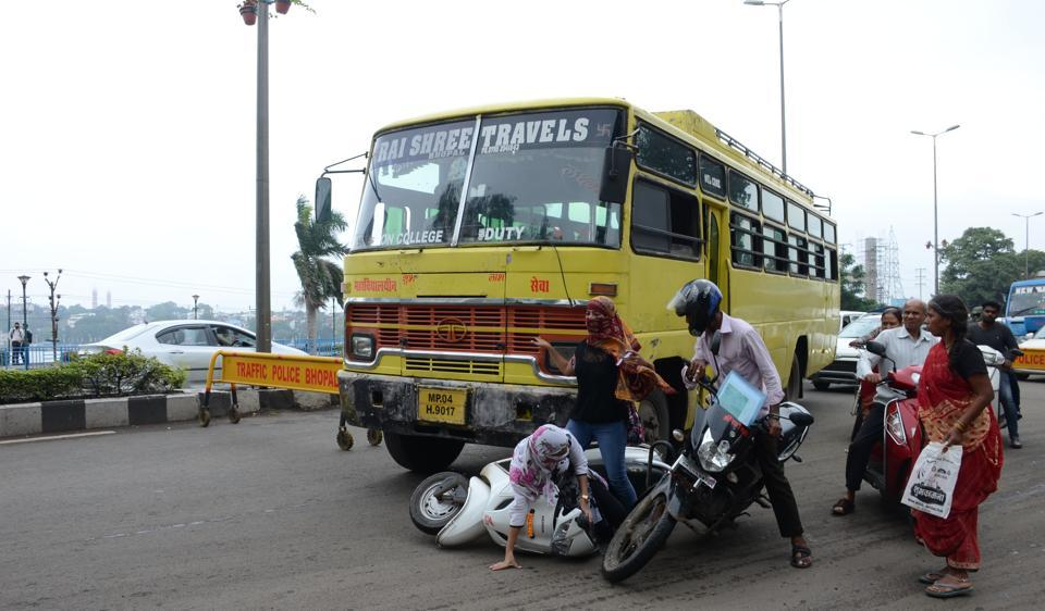 The report mentioned Bhopal as the city with the third highest number of traffic accident deaths among 53 mega cities in India.