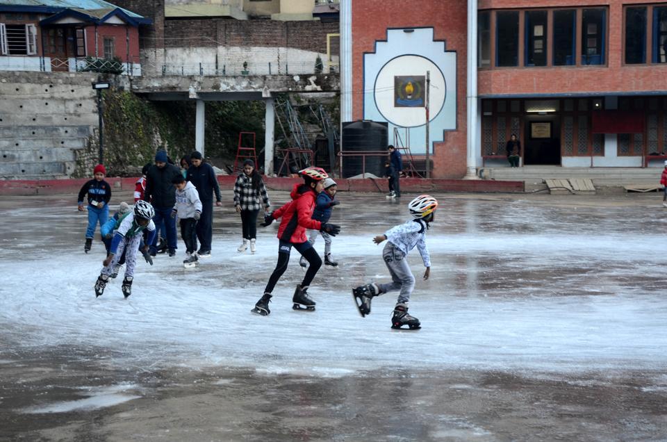 Gurgaon,Shimla,ice skating