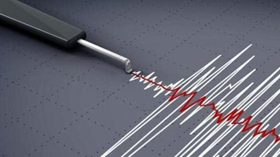 A moderate earthquake of magnitude 5.4 on the Richter scale was recorded along the India-Myanmar border region at 12.20 a.m. late on Tuesday night.