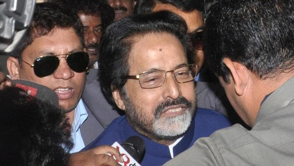 Trinamool Congress MP Sudip Bandhyapadhya  arrives for interrogation at the CBI office in Salt Lake, Kolkata, for the multi-crore Rose Vally chit fund scam case probe in Kolkata on Tuesday.