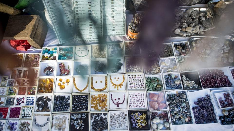The highest-quality stones are smuggled across the country's porous eastern borders to Bangkok or Hong Kong, where they are polished and made into jewellery. (Ye Aung Thu/AFP)