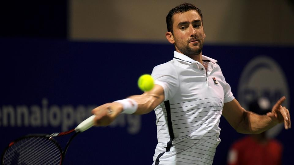 Marin Cilic was beaten in the second round of the Chennai Open on Wednesday, losing to 117th-ranked Jozef Kovalik.