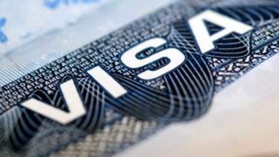 File photo of a US visa.