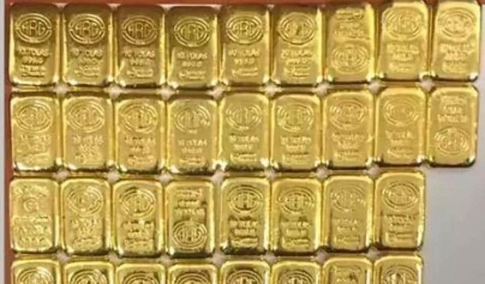 Gold bars seized by the Directorate of Revenue Intelligence (DRI) on Wednesday.