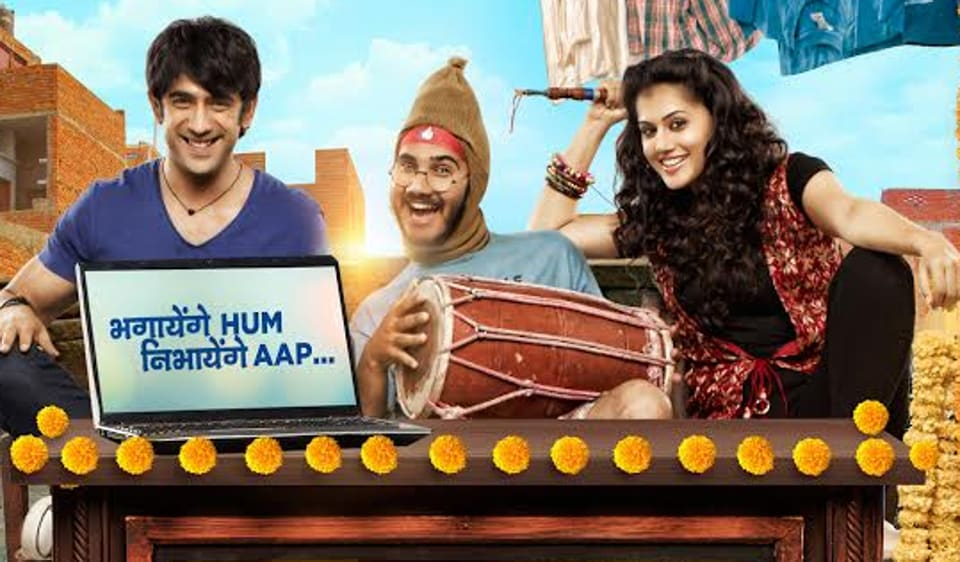 Taapsee Pannu and Amit Sadh on Running Shaadi.com poster.