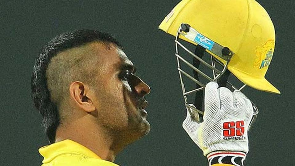 Mahendra Singh Dhoni loves to play around with his hairstyle. He sported a Mohawk cut while leading IPL team Chennai Super Kings