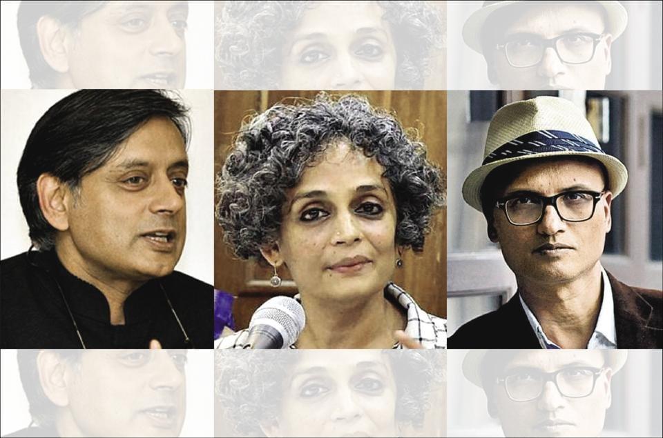 Arundhati Roy,Shashi Tharoor,Nazwazuddin Siddiqui