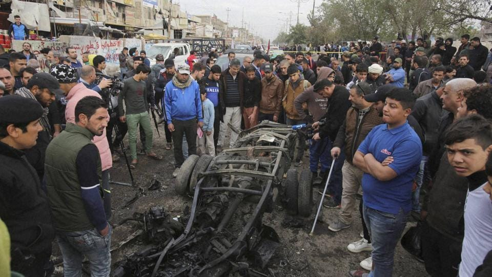 A car bomb tore through a Baghdad market on Thursday, killing at least nine people in what appeared to be the latest in a series of deadly attacks by the Islamic State group.