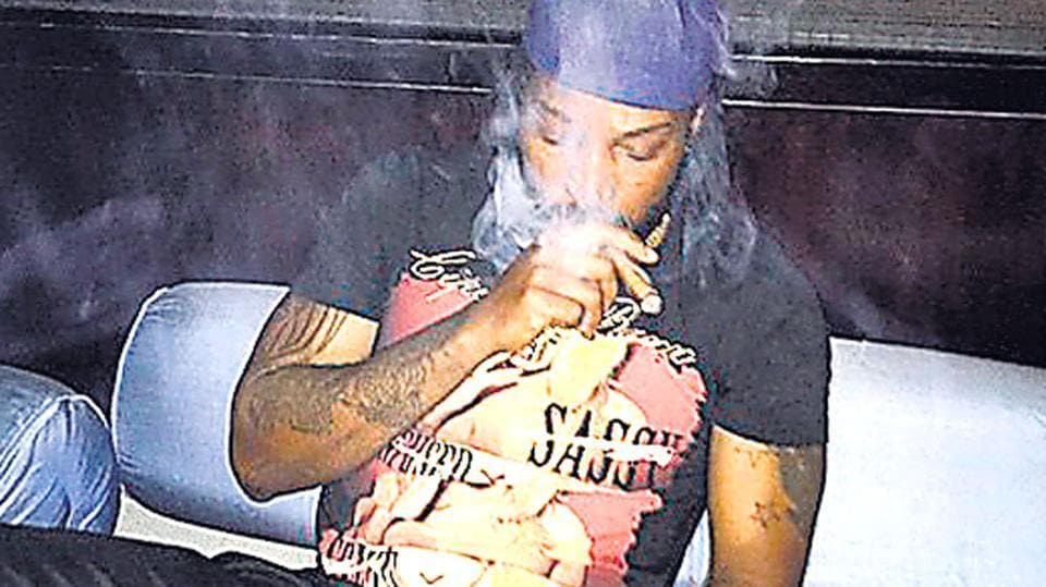 In this photo posted on Chris Gayle's Instagram account on May 19, the Caribbean smokes and drinks as he takes a break from a tight cricketing schedule.