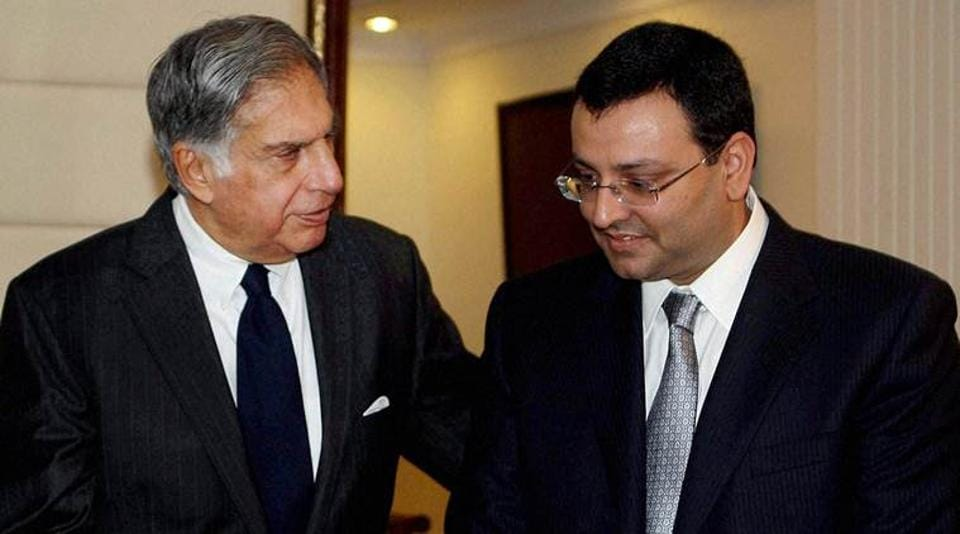 Ratan Tata (L) with Cyrus Mistry. Tata Sons on Monday removed Cyrus Mistry as its Chairman, nearly four years after he took over the reins of the group.