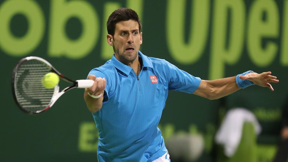 Novak Djokovic eased through to his first semi-final of the season at the Qatar Open  after defeating Radek Stepanek.