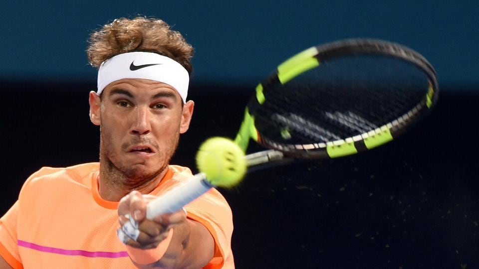 Rafael Nadal crushed Germany's Mischa Zverev to set up a quarterfinal clash against Milos Raonic at the Brisbane International.