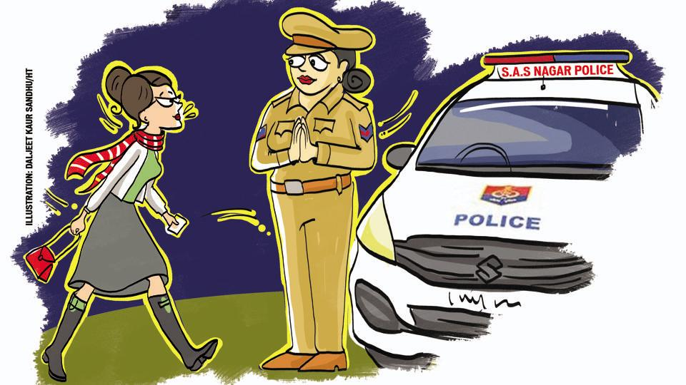 Women walking alone on the street late night need not be surprised if a police control room (PCR) vehicle stops them and offers help in SAS Nagar.