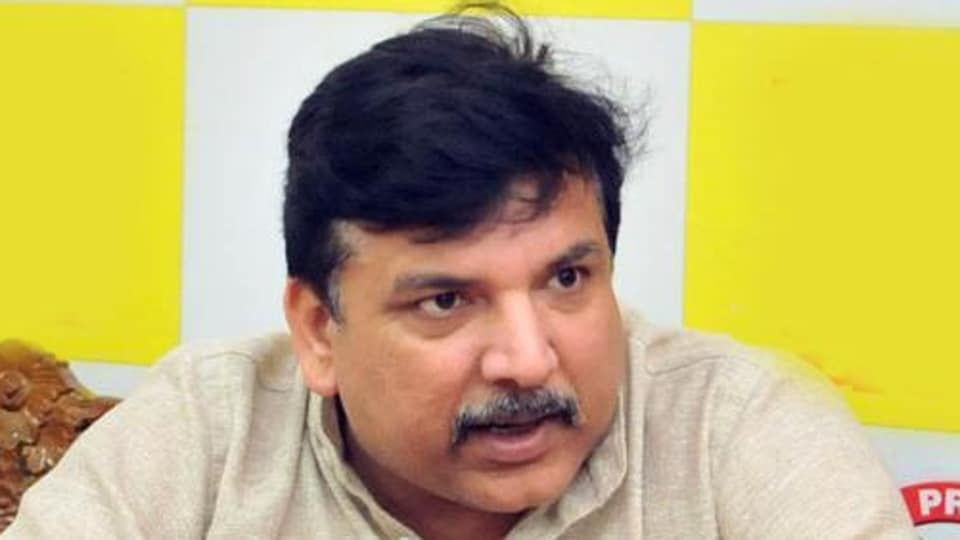 AAP's Punjab in-charge Sanjay Singh.
