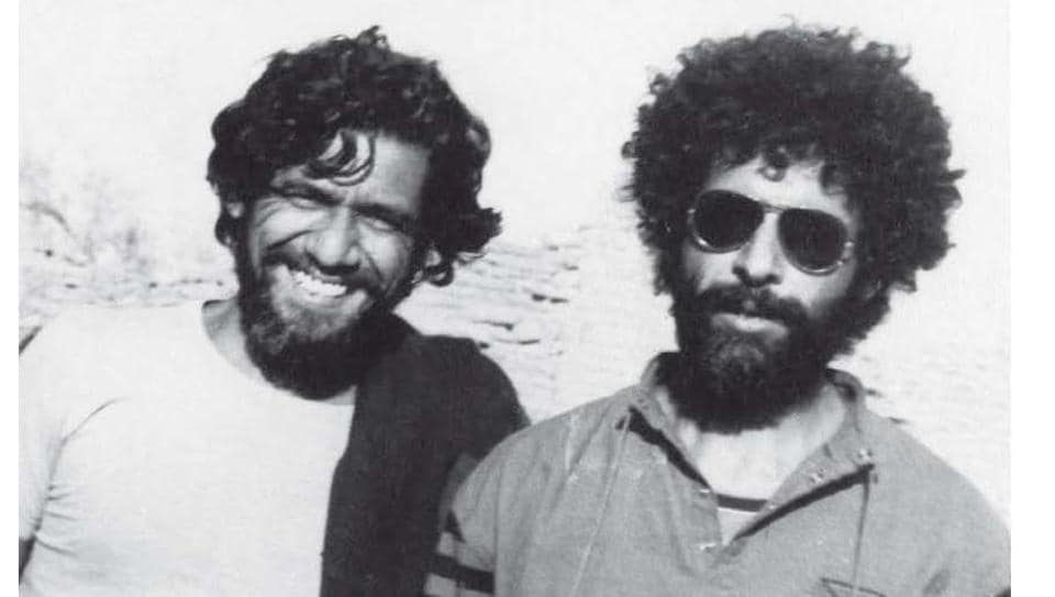Actor Om Puri with fellow actor Naseeruddin Shah.