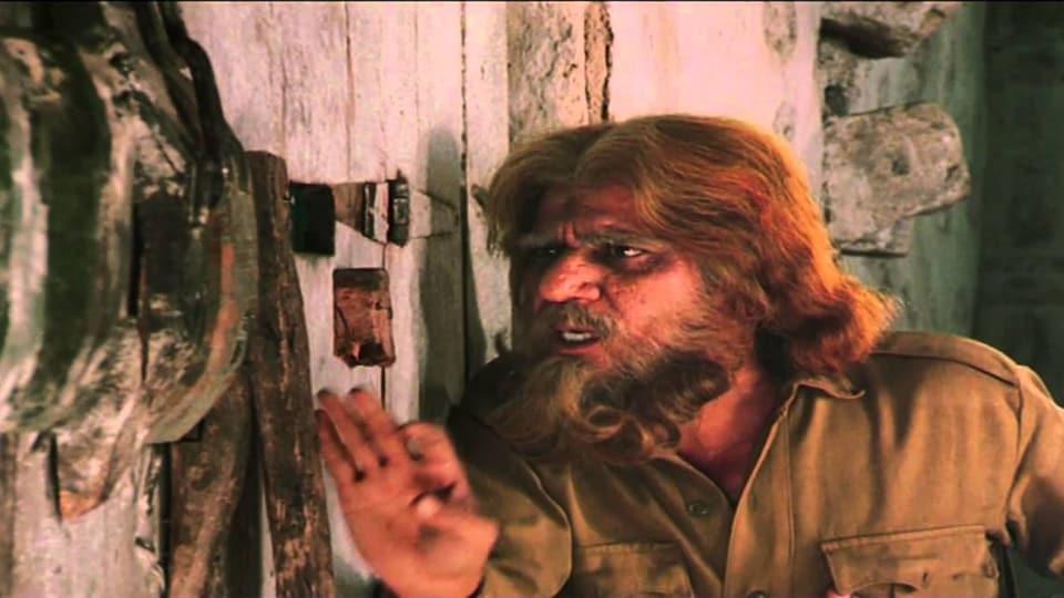 Om Puri in a still from Ketan Mehta's Mirch Masala.