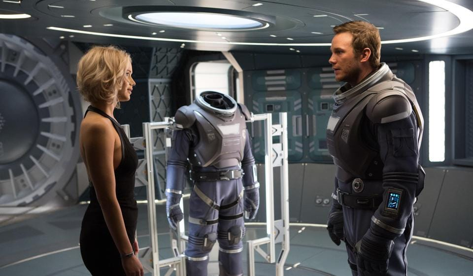 Chris Pratt is a deep-space voyager woken out of deep slumber 90 years too soon, due to a malfunction in his hibernation pod.