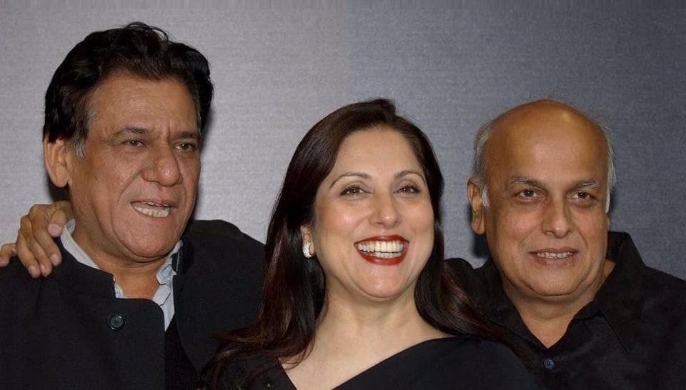 Late actor Om Puri with eminent Pakistani actor Samina Peerzada and Indian filmmaker Mahesh Bhatt.