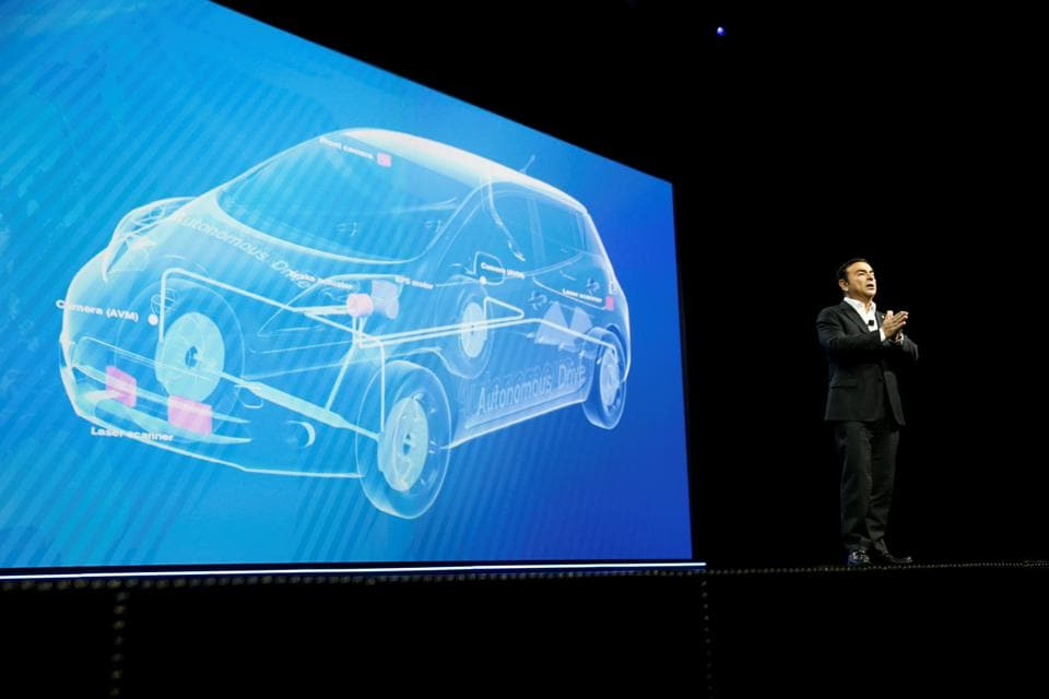 Carlos Ghosn, chairman and CEO of Nissan, speaks during a keynote address at the 2017 CES in Las Vegas, Nevada January 5, 2017. REUTERS/Steve Marcus (Reuters)