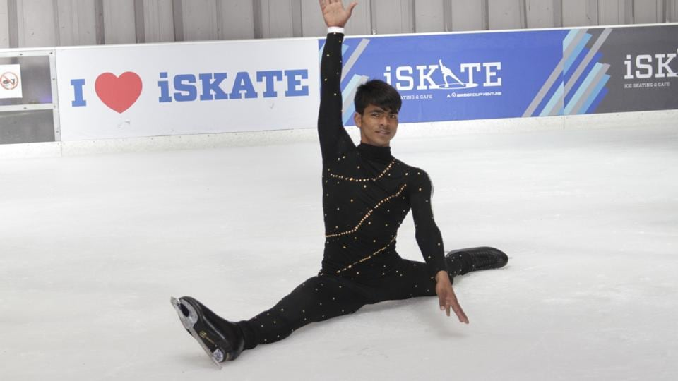 Raj Kumar Tiwari, who won gold at the 2013 Special Olympics, will participate in the 13th National Ice Skating Championship on Friday.