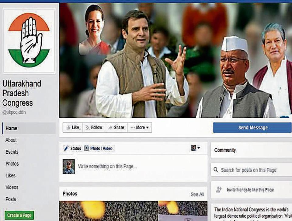 The Uttarakhand Congress runs a page on Facebook and has uploaded videos on its activities.