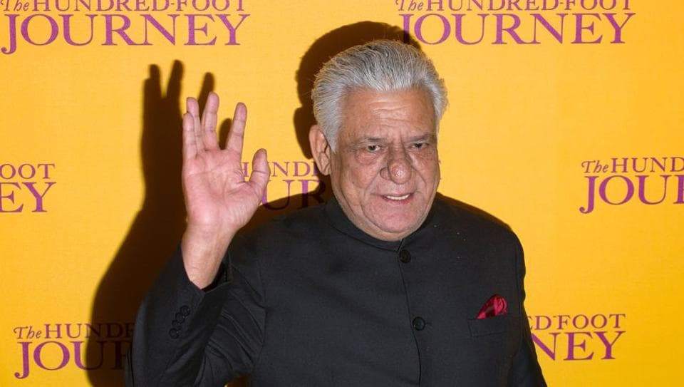 Bollywood actor Om Puri at the UKscreening of  The Hundred Foot Journey, in central London in 2014. The 66-year-old died in Mumbai on January 6, 2017.