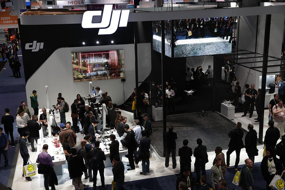 The DJI booth is seen during CES 2017 at the Las Vegas Convention Center in Las Vegas, Nevada.  (AFP)