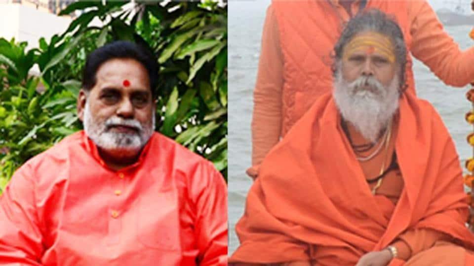 (Left) Yogiraj Ramesh Maharaj and (right) Swami Narendragiri