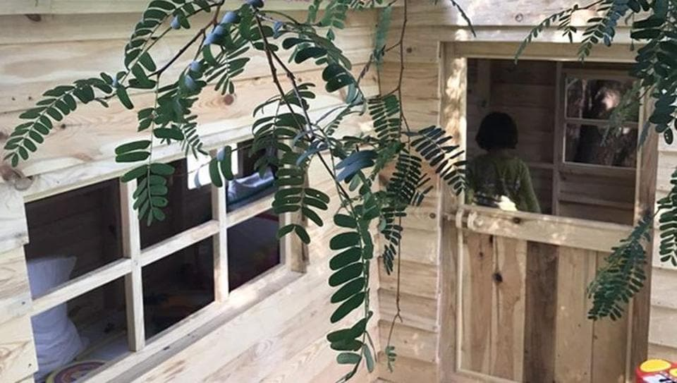 Shah Rukh's wife and Abram's mother Gauri Khan posted two pictures of the house on Thursday.