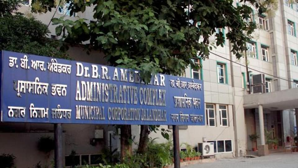 Municipal corporation building in Jalandhar.