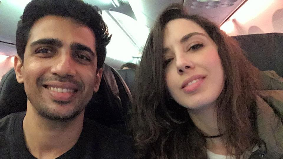 Bollywood actor Gulshan with his wife Kalliroi Tziafeta.