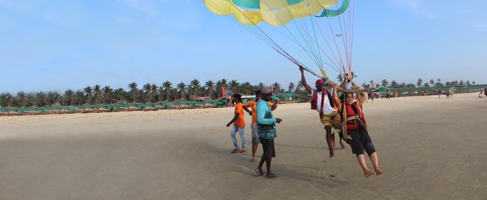 Sagari Devayya, 64, went parasailing in Goa three months ago. 'I've been a homemaker for 15 years, but I never stopped looking for adventure,' she says.
