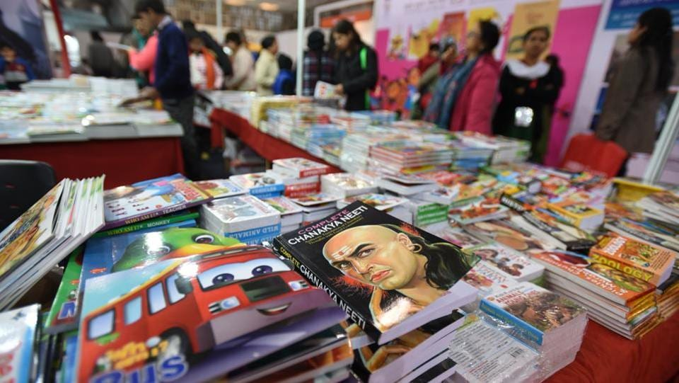 Nearly 800 publishers from across the country and abroad are participated in the Fair, making it a grand celebration of books and writers. The book fair concludes on January 15. (Virendra Singh Gosain/HT PHOTO)