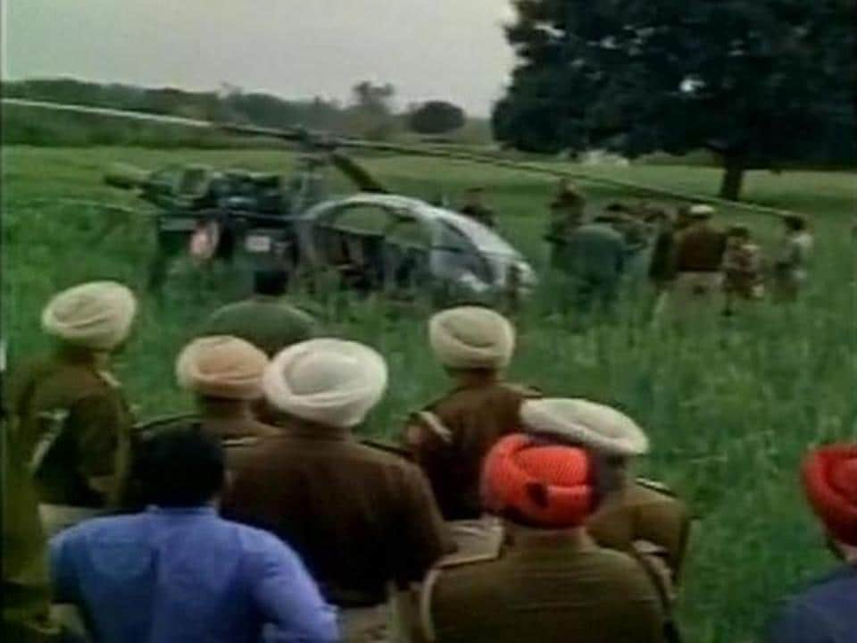 File photo of an IAF Cheetah helicopter crash in Punjab's Hoshiarpur district.  The ageing Cheetah, which plays a key role for the army on the Siachen glacier, has been a cause for concern for several years.