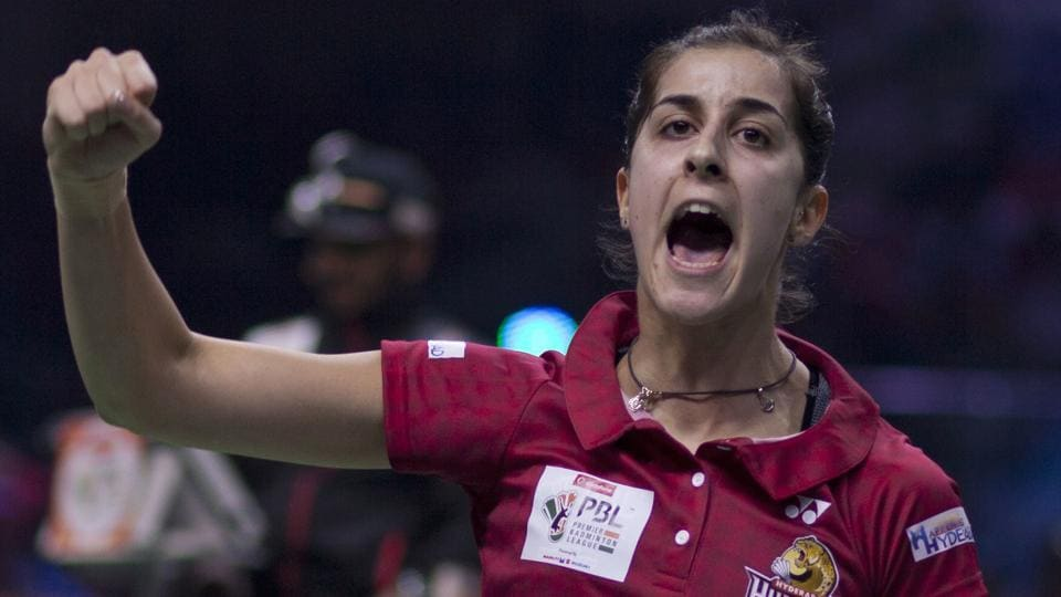 Carolina Marin was stretched by Ashwini Ponnappa in the Premier Badminton League match between Hyderabad Hunters and Bengaluru Smashers.