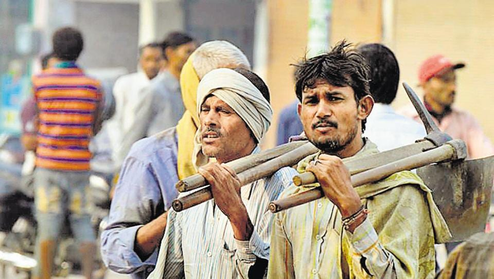 As per the data compiled by the labour department, accounts have been opened only for 33,340 of the 2.12 lakh registered workers in Gurgaon.