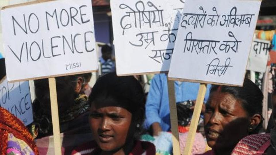 Women protest against the rape and murder of an engineering student in Ranchi in December 2016. In Meghalaya, Julius Kitbok Dorphang, a rebel turned MLA, is accused of raping a minor girl twice last month, including once at a guest house belonging to family of state home minister HDRLyngdoh.