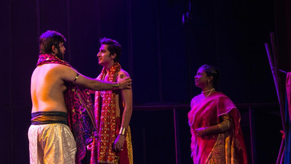The play, based on author Devdutt Pattanaik book The Pregnant King, explores different aspects of gender roles, sexual identity, dharma and religion.