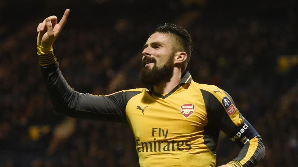 Arsene Wenger hailed the performance of stand-in Arsenal captain Olivier Giroud after his late goal sealed a 2-1 FA Cup third round win at Championship side Preston.