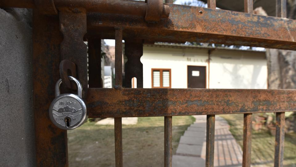 Thieves broke three locks to enter the house and they got inside through the first floor door.