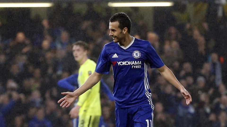Chelsea F.C.'s Pedro scored two goals as they routed Peterborough United 4-1 in the FA Cup clash.