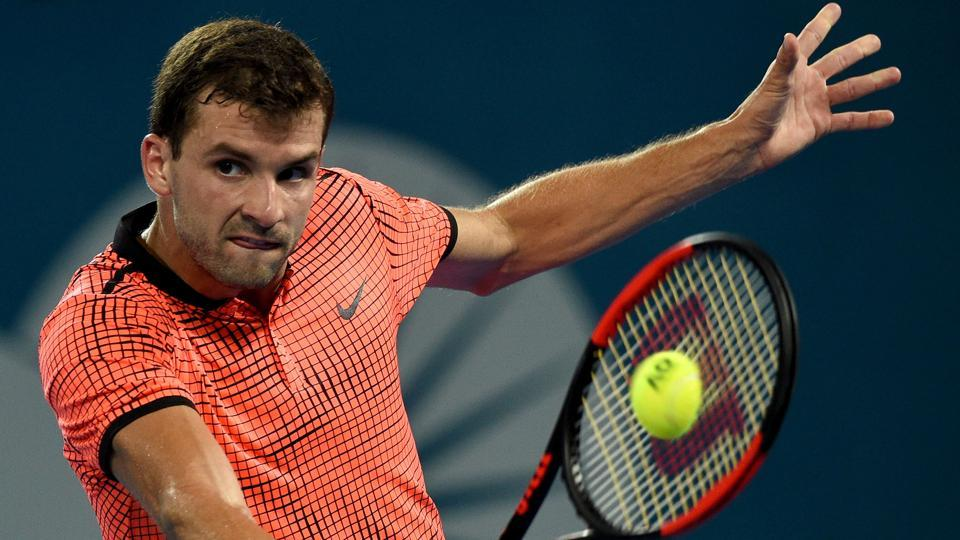 Grigor Dimitrov defeated Kei Nishikori 6-2, 2-6, 6-3 on Sunday  to win the Brisbane International final and claim his first tournament victory since 2014.