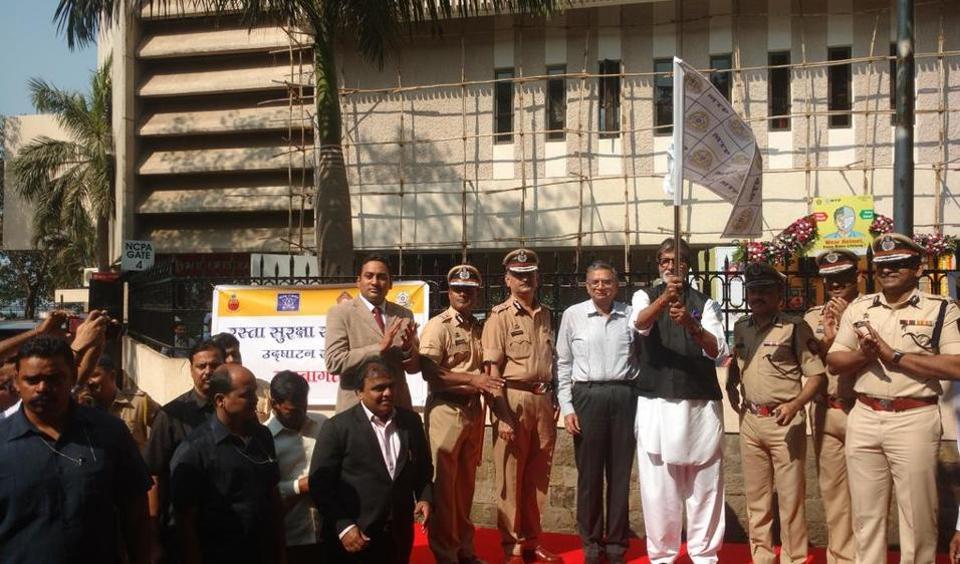 Veteran Bollywood  actor Amitabh Bachchan inaugurates Road Safety Week  on Monday.